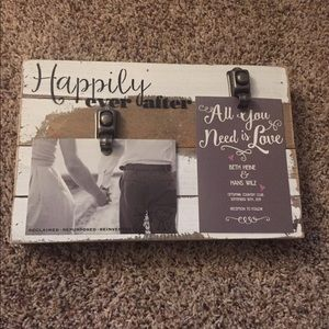 Wedding picture holder